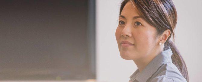 woman listening in an interview